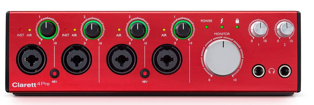 Focusrite Clarett (Thunderbolt) for Music Production